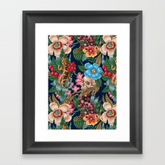 Lizzards and Skulls Framed Art Print