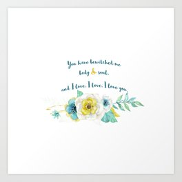 Pride and Prejudice, Jane Austen Art Print