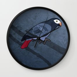 Timneh Grey (Psittacus timneh) Wall Clock