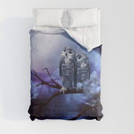 Cute couple owls Comforters