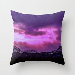 Chugach Mountains in Purple - II Throw Pillow