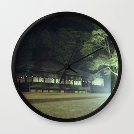 Koyasan temple 1 Wall Clock