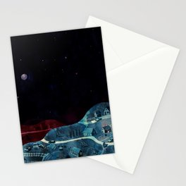 village at nigth Stationery Cards