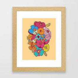 Flowers (1970s Style) Framed Art Print