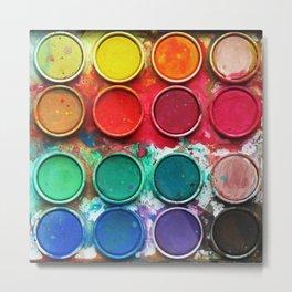 Paintbox Color Palette Metal Print