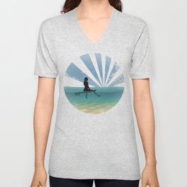 View from a Surfboard Unisex V-Neck