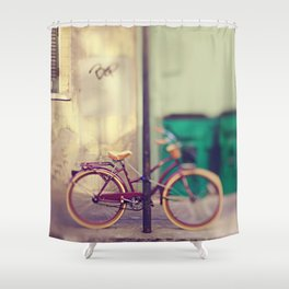 New Orleans Bicycle Shower Curtain
