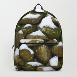 Stone Cold - Snowy Stones - Rock Art Backpack