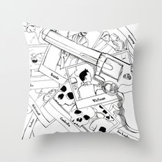 Murderous humanity Throw Pillow
