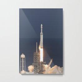 1064. SpaceX Falcon Heavy Demo Flight - Liftoff Metal Print