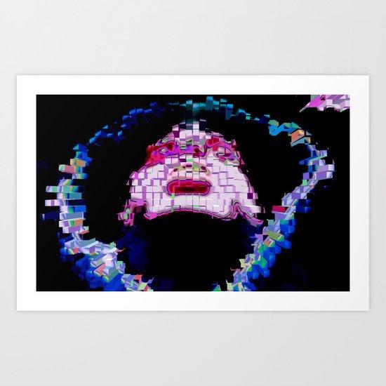 Psychedelic Hood Art Print