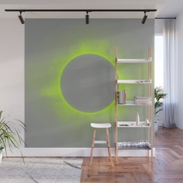 Solar Eclipse in Auroa Colors Wall Mural