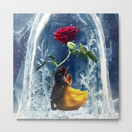 Beauty and the Beast-Rose Metal Print