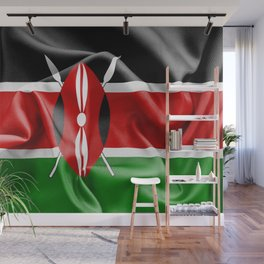 Kenya Flag Wall Mural