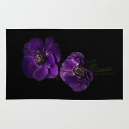 Two Purple Anemones Rug