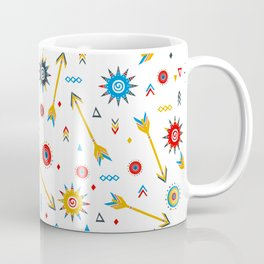 Ditsy print with geometric shapes Coffee Mug