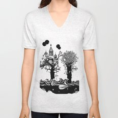 The Whale and The Balloons Unisex V-Neck