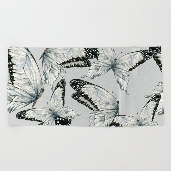 Nymphalidae Butterflies Beach Towel
