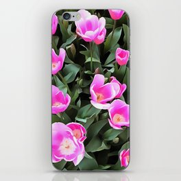 Delicate Pink Tulips Of Istanbul iPhone Skin