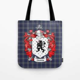 Edwards Crest and Tartan Tote Bag