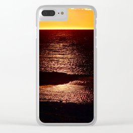 Glowing Sunset on the Sea Clear iPhone Case