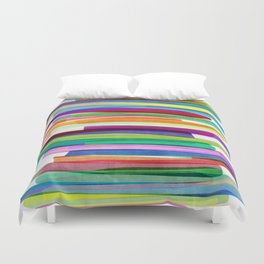 Colorful Stripes 1 Duvet Cover