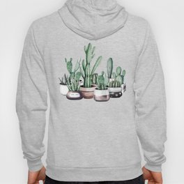 Cactus + Succulents Rose Gold Pattern by Nature Magick Hoody