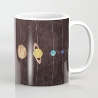 solar system Mugs featuring Solar System by Annisa Tiara Utami
