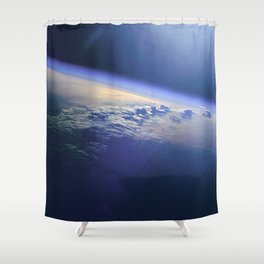 Indian Ocean Seen From Space Shower Curtain