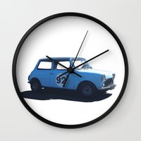 mini Wall Clocks featuring Mini by kerilovesmigs