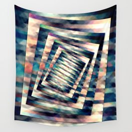 Rotating Grunge Rectangle Wall Tapestry