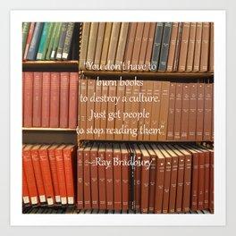 Ray Bradbury Quote Art Print