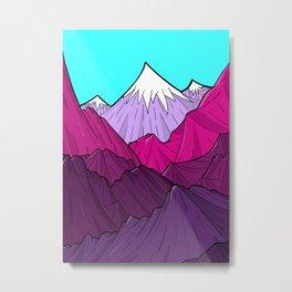 The Purple Mounts Metal Print