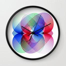 Flower Power geometric Wall Clock
