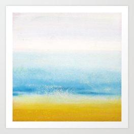 Waves and memories Art Print