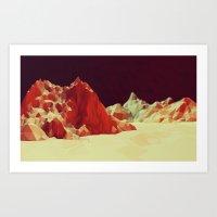 mars Art Prints featuring Mars by Timothy J. Reynolds