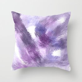 Purple Watercolor Abstract Art Throw Pillow