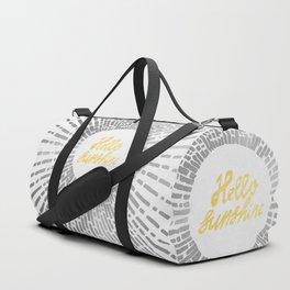 Hello Sunshine Silver Duffle Bag