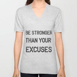 Be Stronger Gym Fitness Gifts Unisex V-Neck