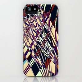 SWEEPING LINE PATTERN I-E iPhone Case