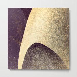Sea-smoothed stone Metal Print