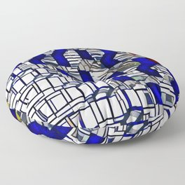 Cubism Harpa, Iceland Floor Pillow