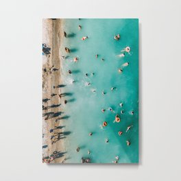 Endless Blues, Turquoise Ocean, Aerial Beach Photography, Blue Waves, Beach Wall Art Poster, Ocean Metal Print