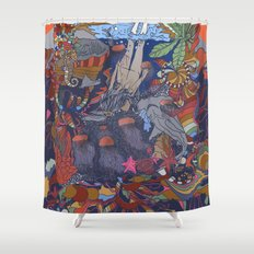 Dive into the Unknown Shower Curtain