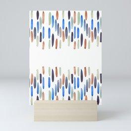Abstract artwork colorful strokes Mini Art Print