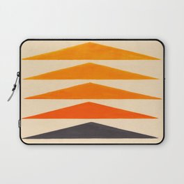 Vintage Scandinavian Orange Geometric Triangle Pattern Laptop Sleeve