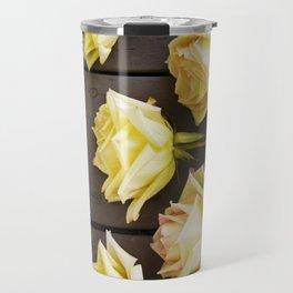 Country Yellow Roses Travel Mug