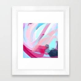 Pastel Abstract Brushstrokes Framed Art Print