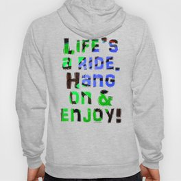 Green Blue Red Carnival Ride Hoody