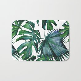 Tropical Palm Leaves Classic Bath Mat